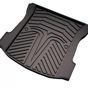 TPO TPE Material Waterproof Car Trunk Mats Rubber Protection Cushion