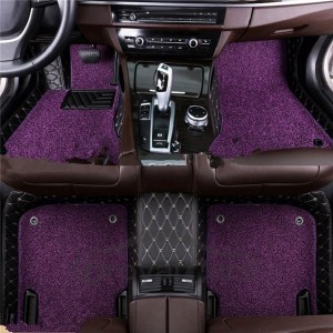 factory customized Leather Floor Mats For Cars - Luxury Customized Leather Diamond Car Mats For Women  – Huawo